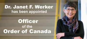 Dr. Janet F. Werker Appointed Officer of the Order of Canada