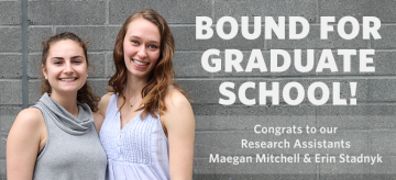 Two of Our RAs are Bound for Graduate School