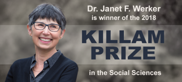Dr. Janet F. Werker Awarded the 2018 Killam Prize