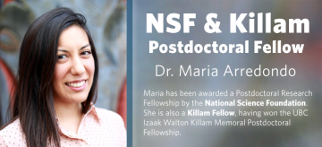 NSF & Killam Fellow: Dr. Maria Arredondo